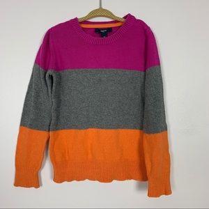 Gap Color Block Sweater sz S Girls